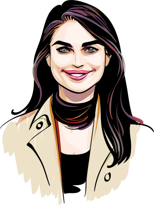 Illustration of attractive Hope Hicks