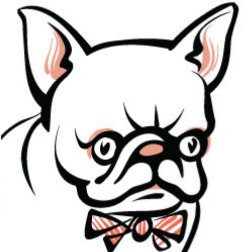 Blinking frenchie Animation Gif