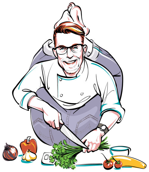 Portrait of Rick Bayless is an American chef specializes in Mexican cuisine