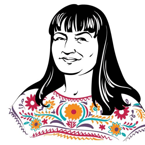 Chicago Magazine portrait of Sandra Cisneros animation