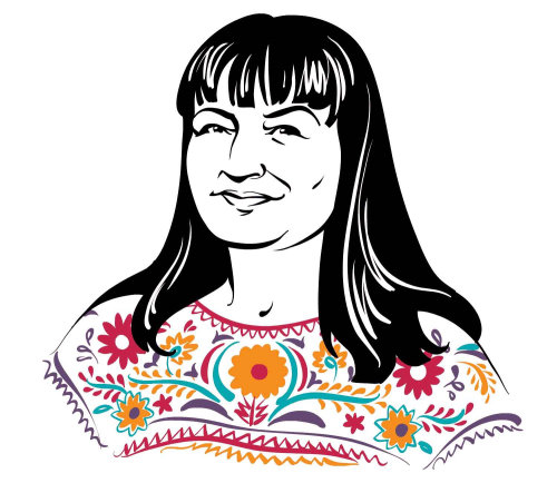 Chicago Magazine portrait of Sandra Cisneros animation