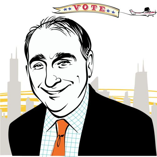 Chicago magazine  David Axelrod animation