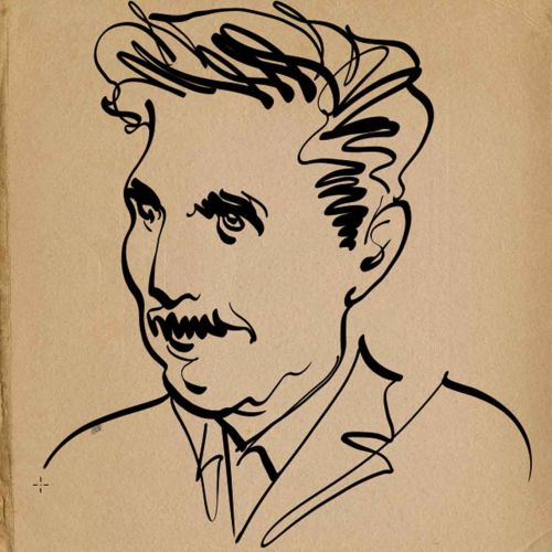 The Stranger Magazine George Orwell animation