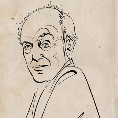 Animation portrait of Roald Dahl