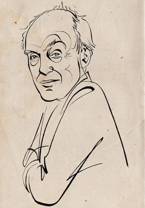 Animation portrait of Roald Dahl