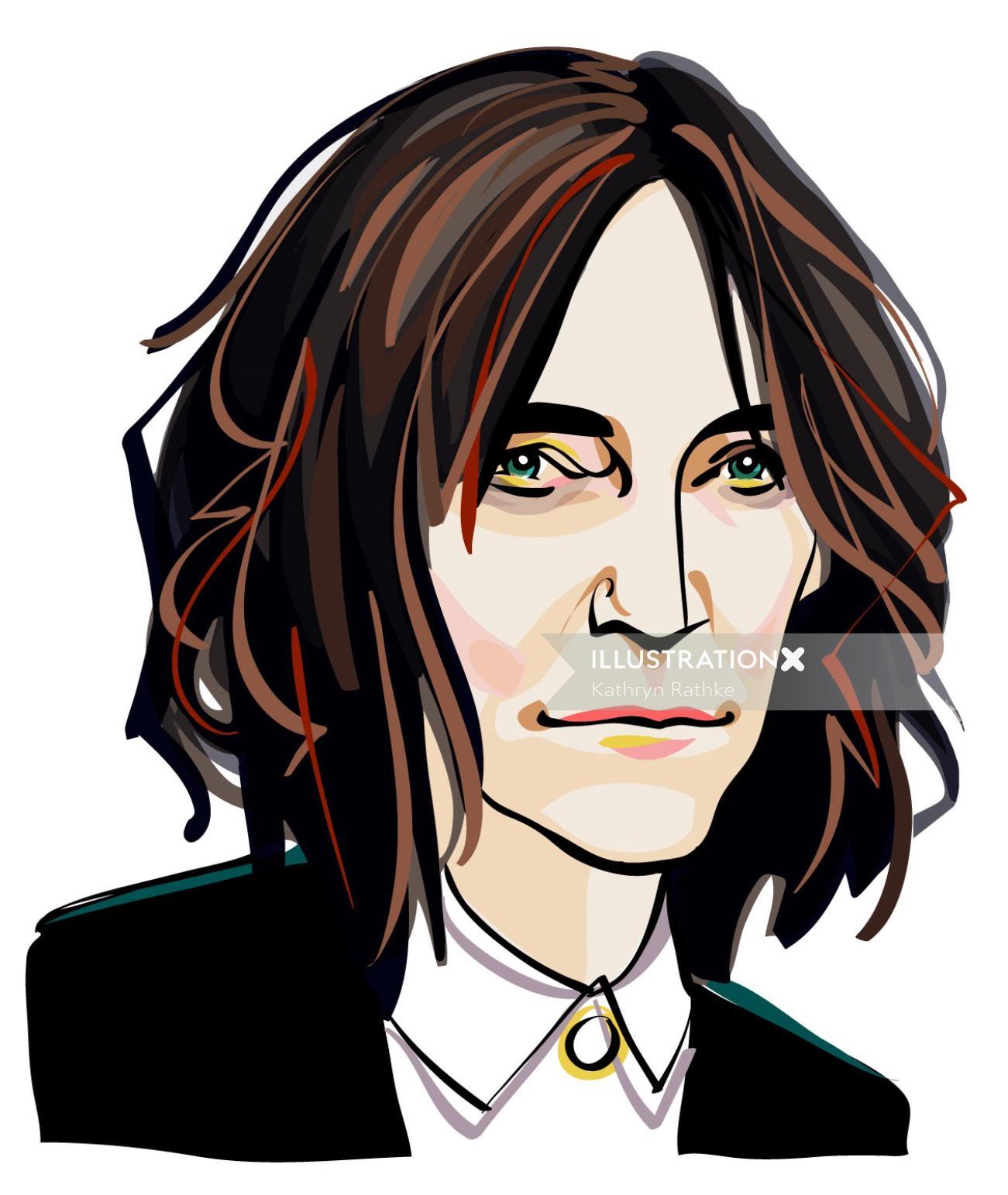 Musician Patti Smith  Portrait