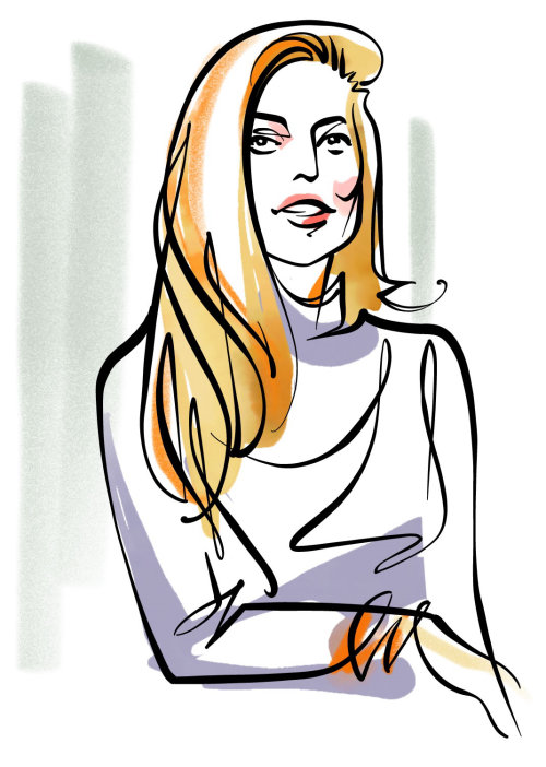 Chic woman portraiture