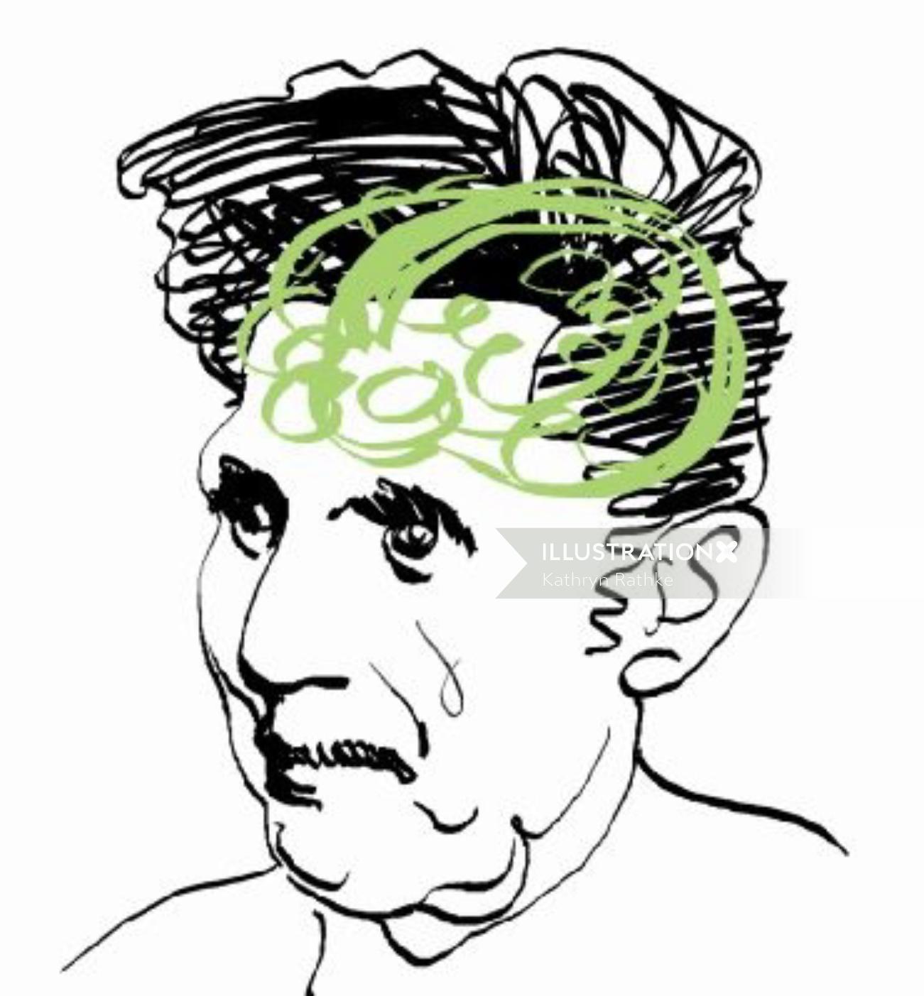 George Orwell illustrative graphic