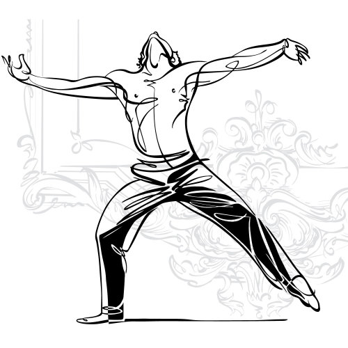 Male ballet dancing sketch