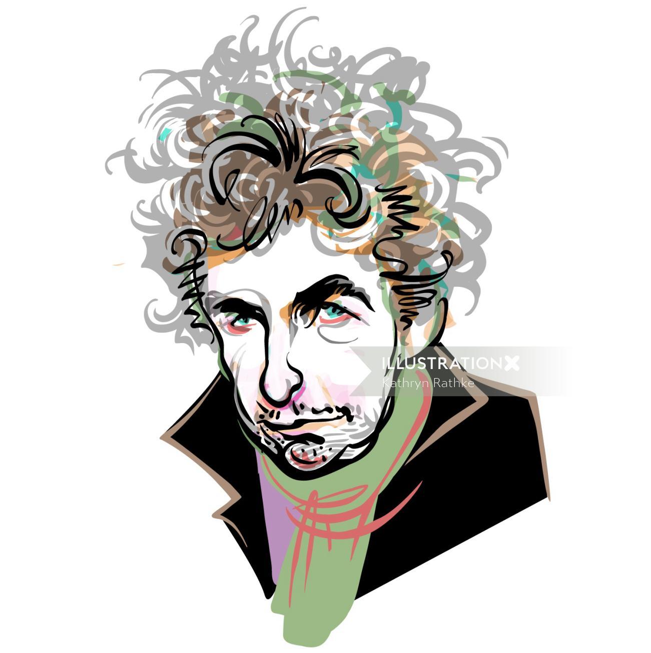 Intelligent Life Bob Dylan Digital portrait