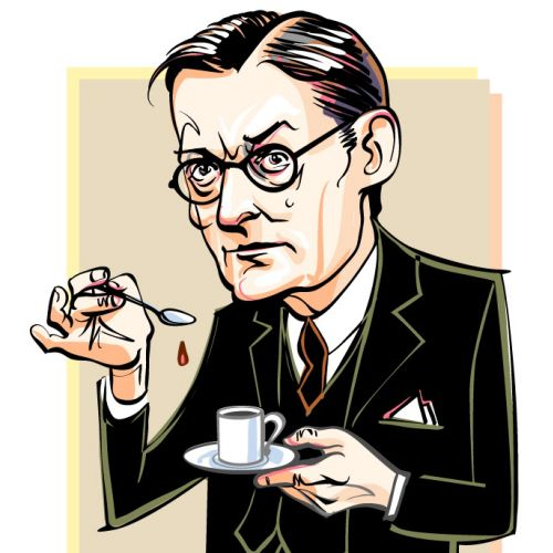 T. S. Eliot vector graphic design