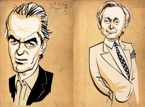 Portrait de Martin Amis et Tom Wolfe
