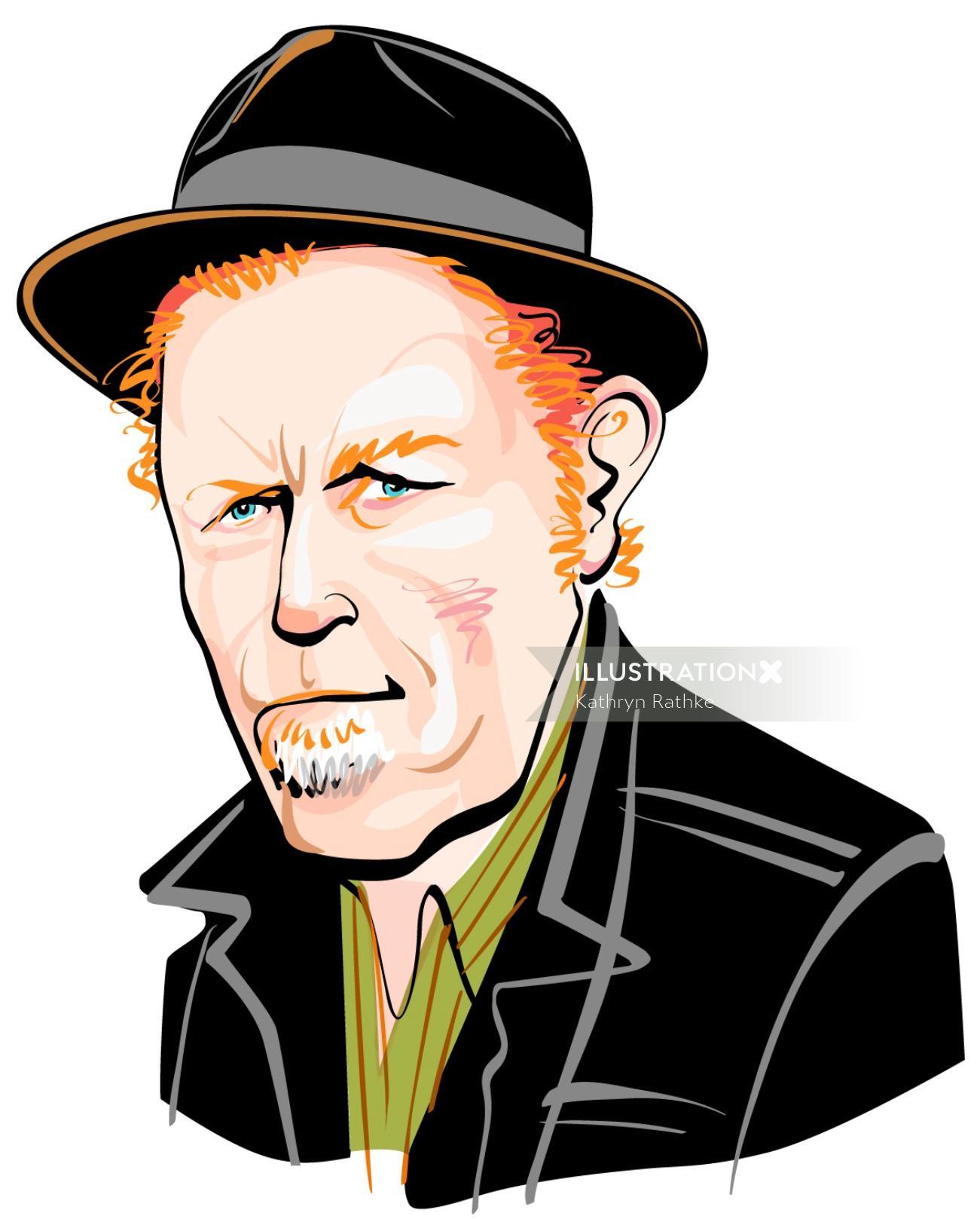 Portrait of Tom Waits