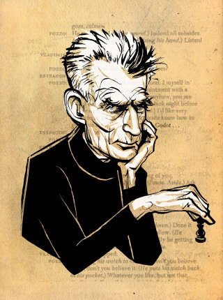 Samuel Beckett playing chess