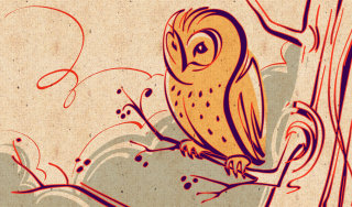 Owl logo design by Kathryn Rathke illustrator