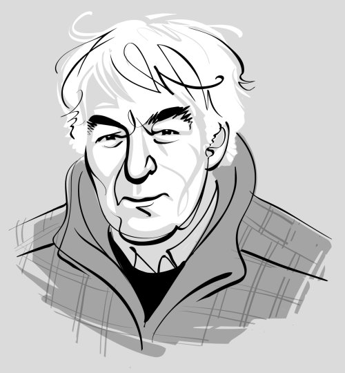 Black & White Portrait of Seamus Heaney