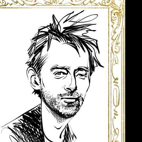 Portrait of Thom Yorke