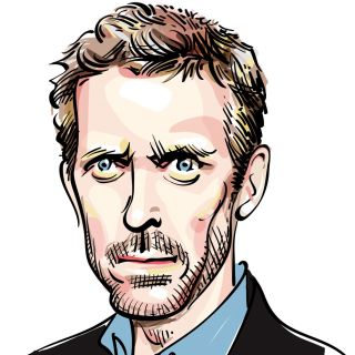 Portrait of Hugh Laurie