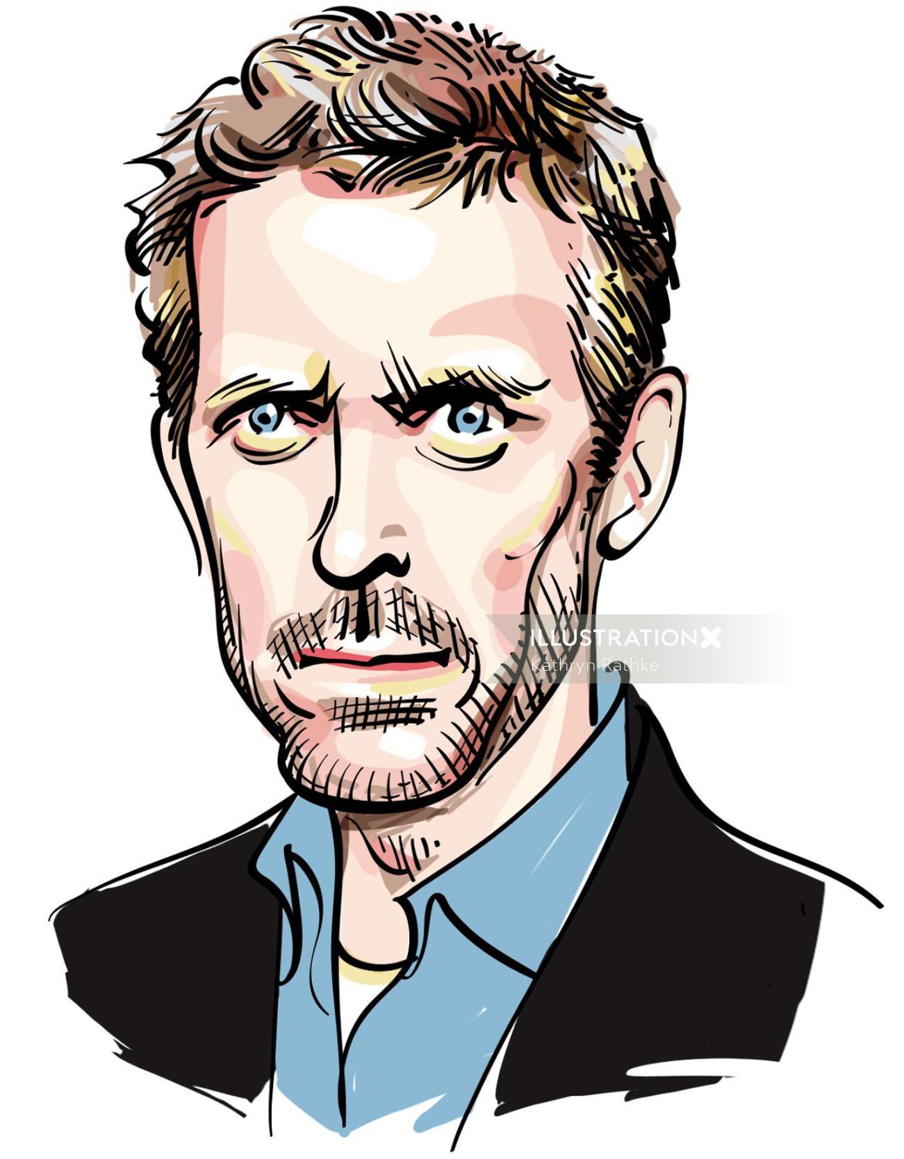 Portrait of Hugh Laurie