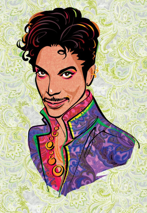 Canvas painting of Prince