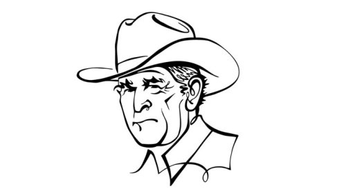 Animation portrait of Bush Winces
