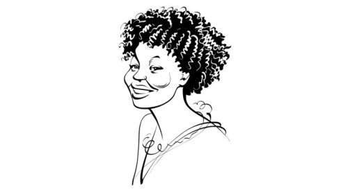 Animation of pretty lady smiling
