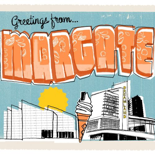 Margate postcard illustration