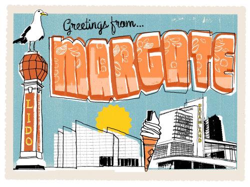 Ilustración de la postal de Margate