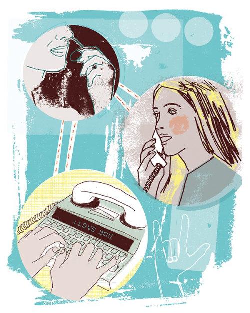 mujer llamando por teléfono ilustración