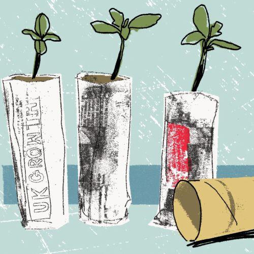 Plants - mixed media art