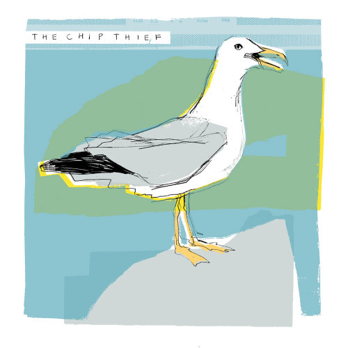 Seagull retro art