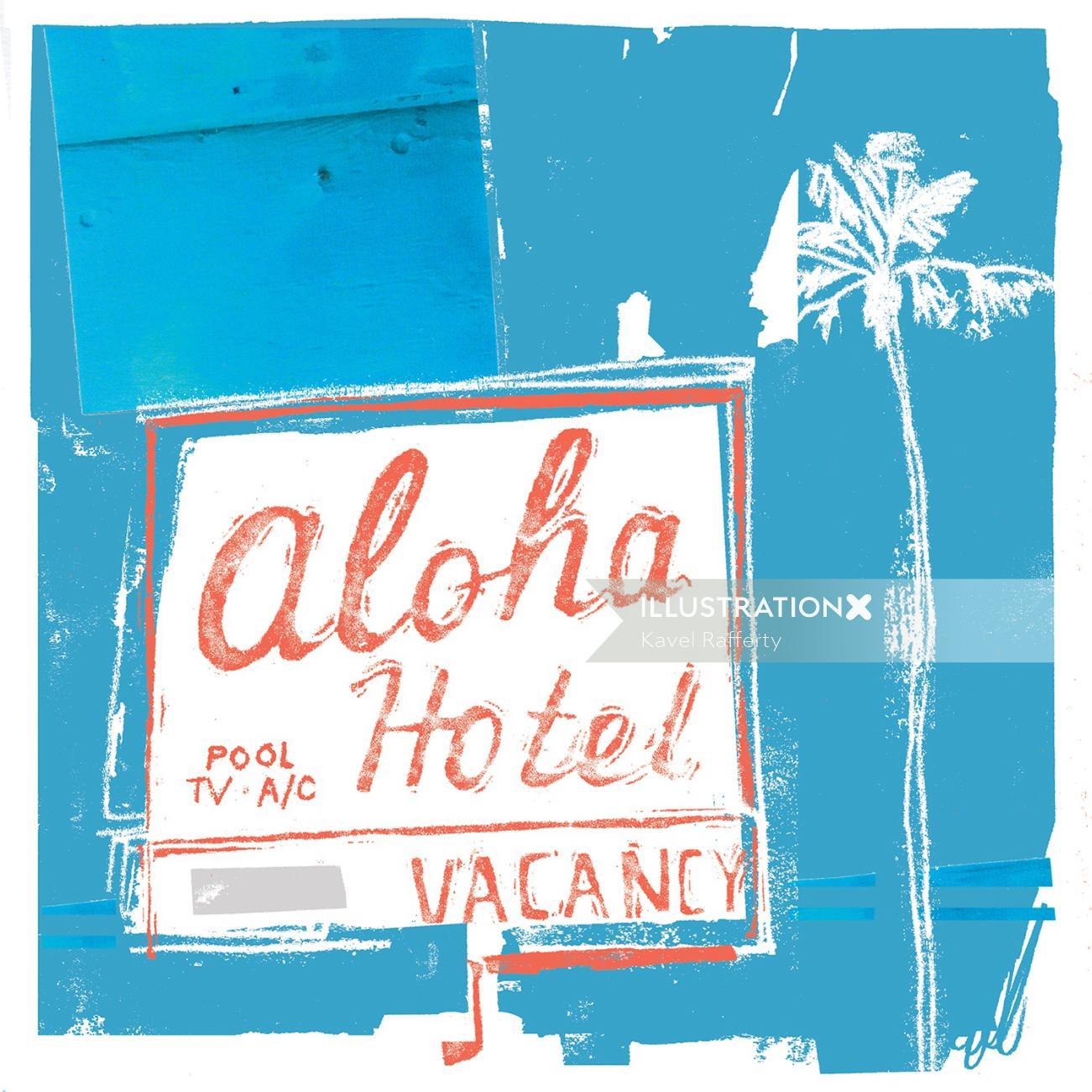 Lettering Aloha hotel