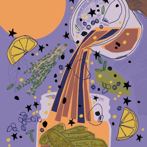 Kavel Rafferty Illustrateur international de style de vie rétro. Royaume-Uni