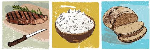 Cumin Rice food illustration