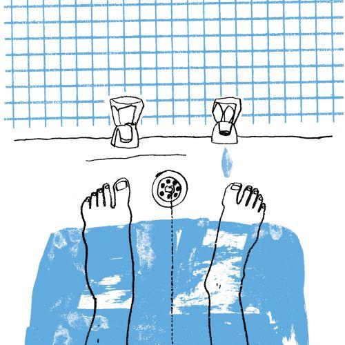 Editorial illustration of Bathtub