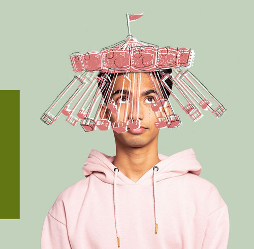 Conceptual art of mental health issues