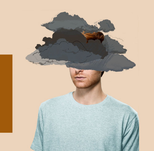 Conceptual illustration of mental health issues