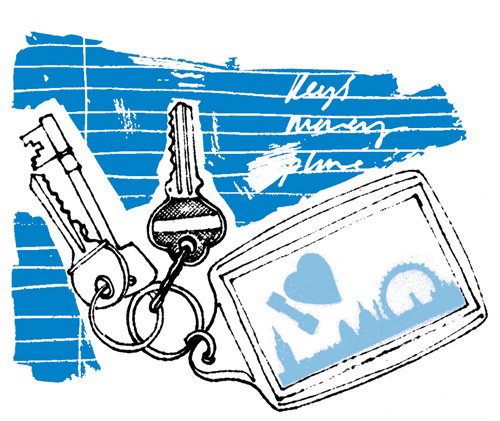 Keys to London retro art