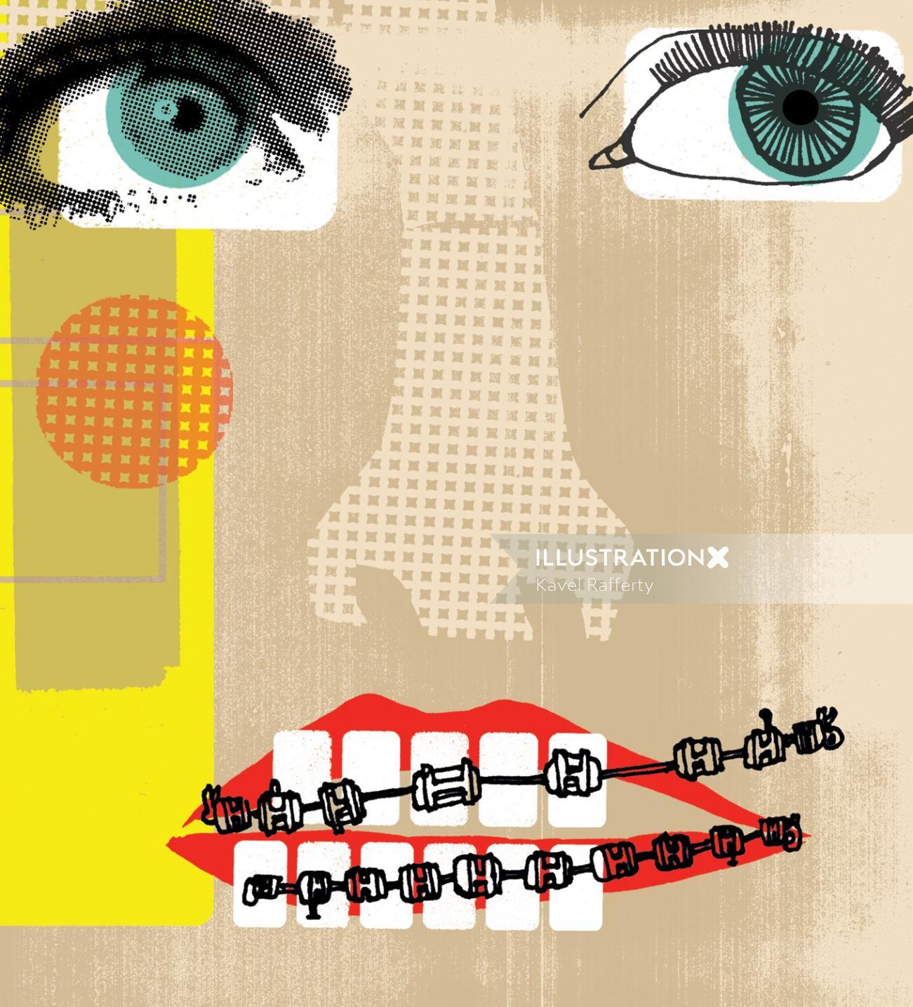 Illustration For Orthodontics