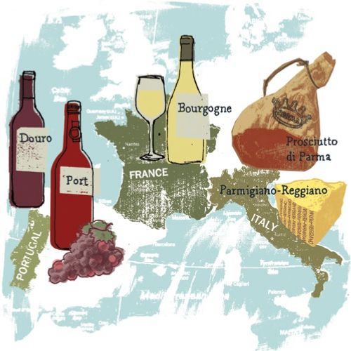 discover the origin food map illustration