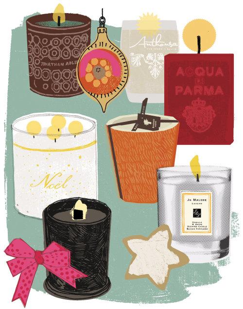 Ilustración de artículos decorativos de Kavel Rafferty