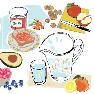 Healthy Foods Illustration