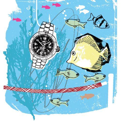 Watch in Fish Aquarium