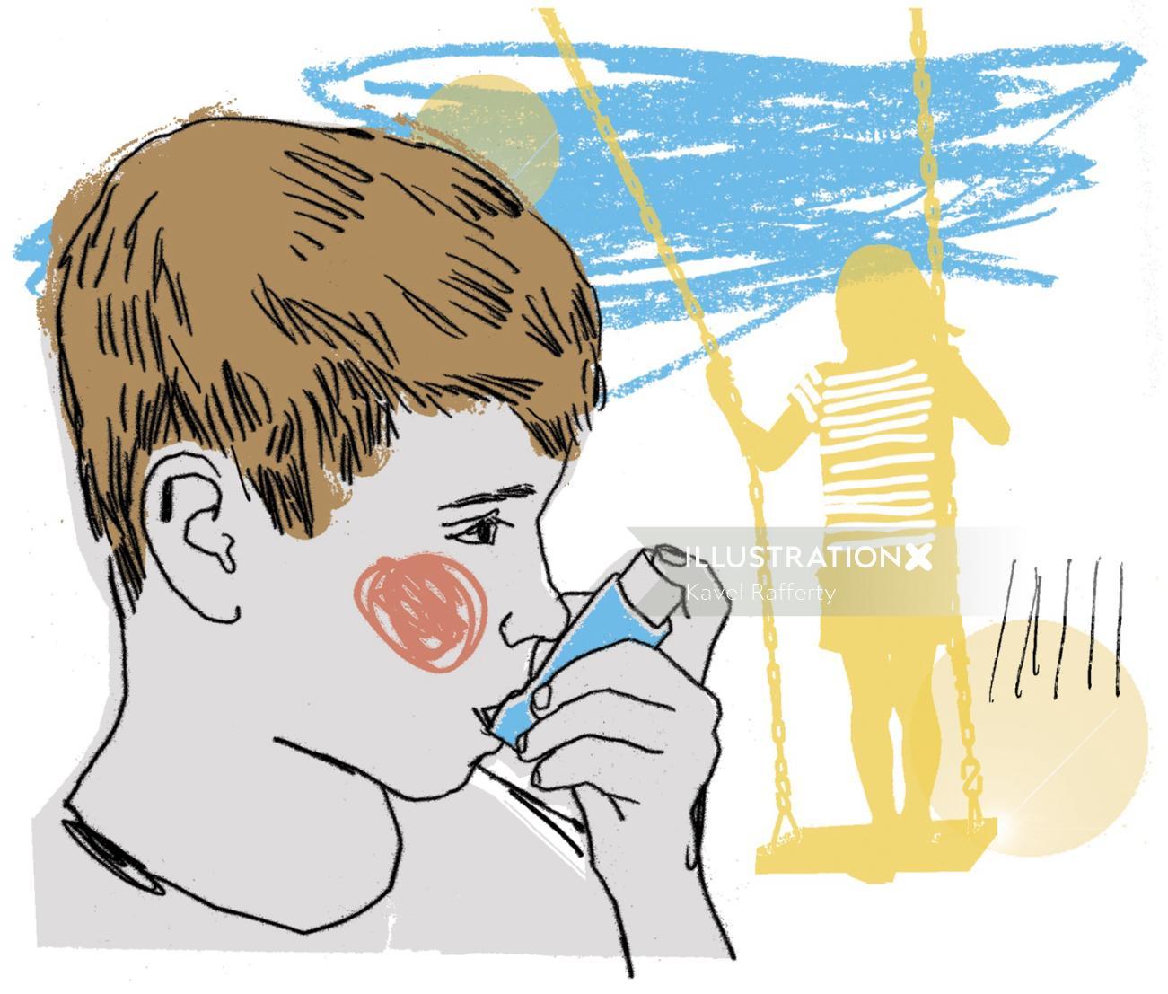 Breath Easy Children asthma graphic