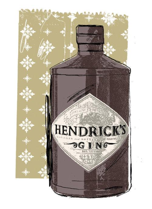 Ilustraciones para la botella de ginebra de Hendrick