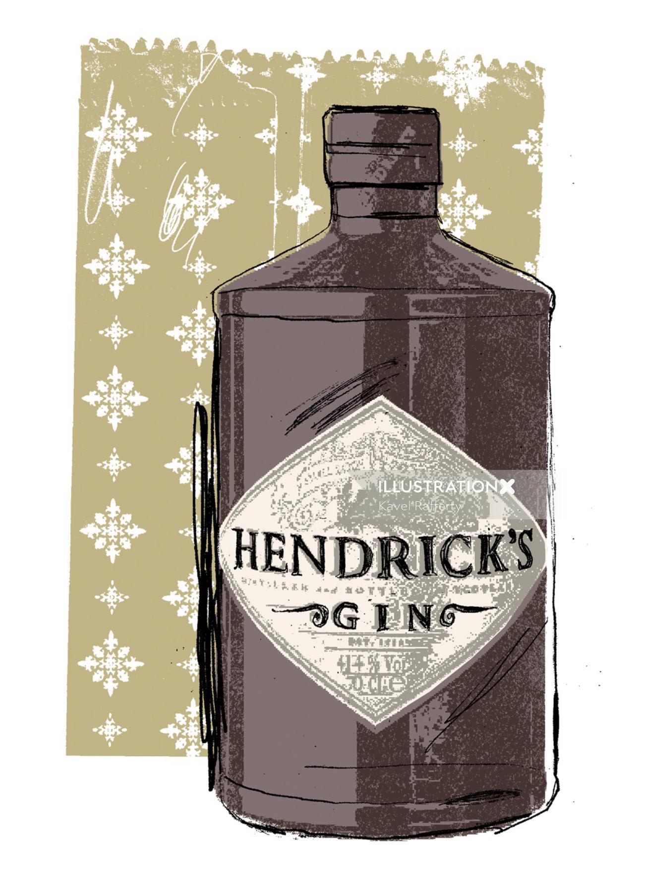Artwork For Hendrick's Gin Bottle
