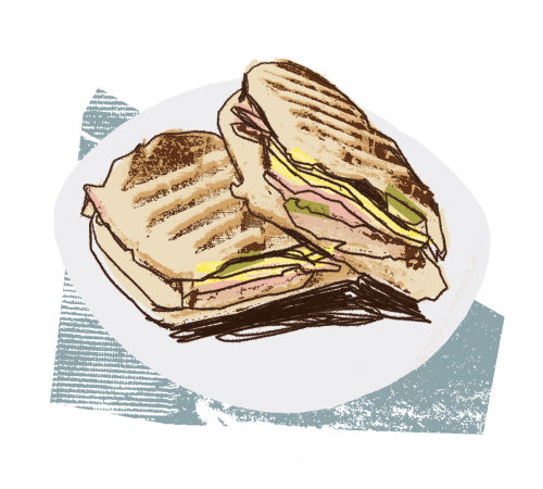 Panini Sandwich food illustration