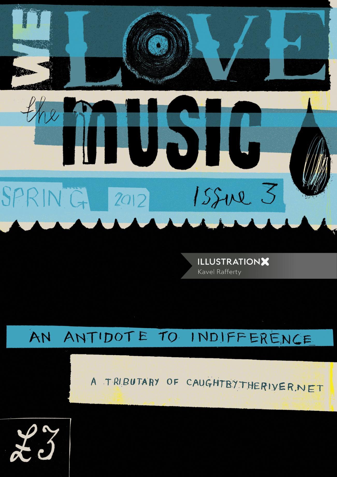 We Love The Music Typographic Art