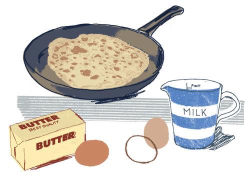 Ilustración de alimentos por Kavel Rafferty