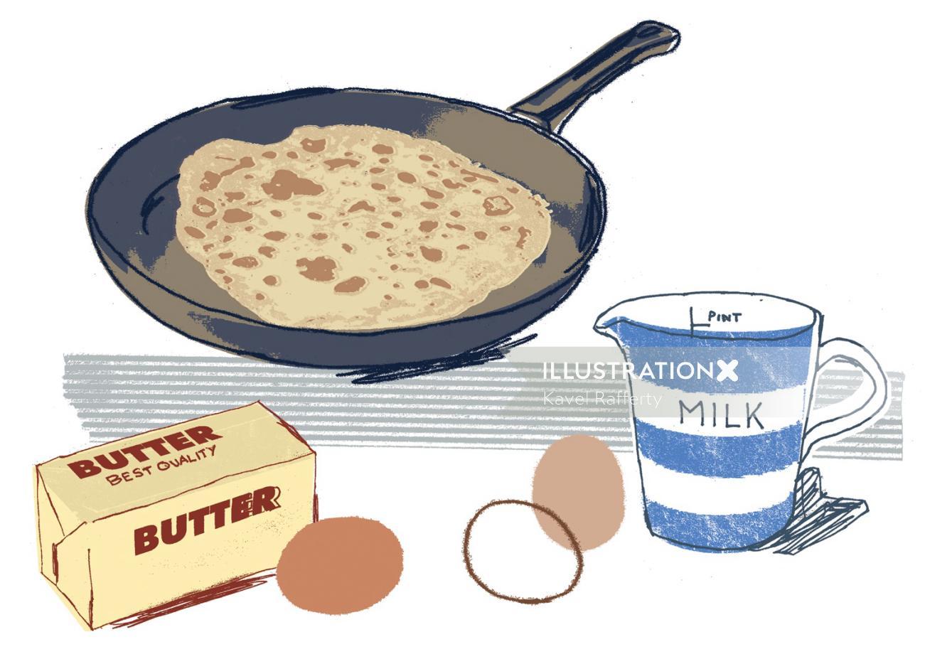 Food Illustration By Kavel Rafferty